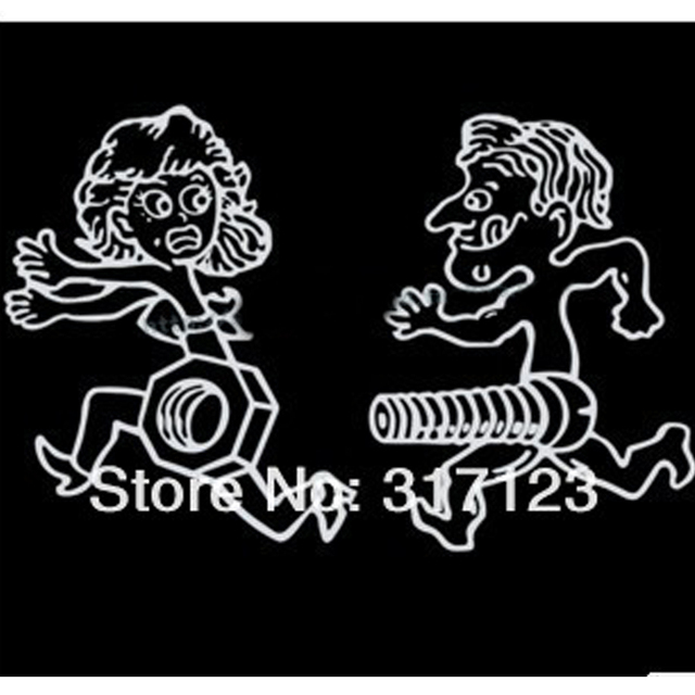 Pieces Lot Wholesale Funny Vinyl Screw And Nut Funny Car - Funny car decal stickers