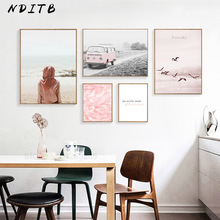 Scandinavian Style Feather Realist Canvas Abstract Painting Landscape Wall Art Nordic Posters and Prints Decoration Pictures