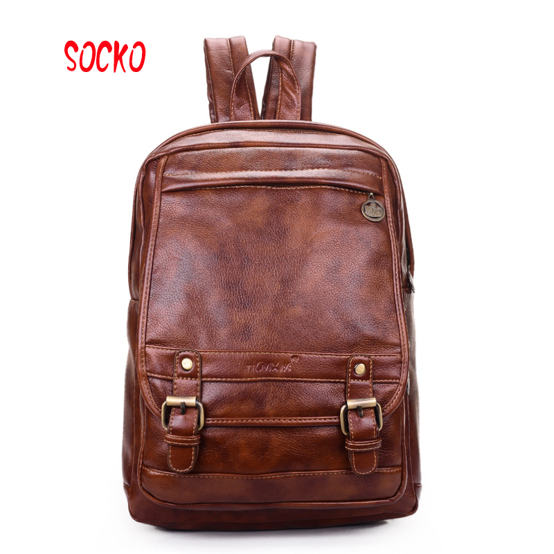 2017 New high quality popular women pu leather college wind backpack shoulder bag women the schoolbags