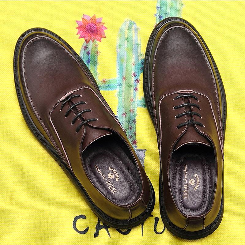 Zapatos negros de verano versión coreana de la tendencia de los zapatos de negocios casuales de los hombres zapatos pequeños de la sociedad Retro británica los hombres de verano - 4