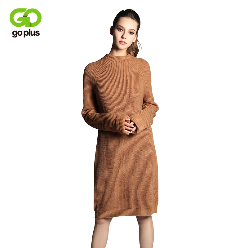 GOPLUS 2018 New Mock Neck Long Knitting Jumpers Women Spring Autumn Knitted Sweater Long Sleeve Pullovers Tunic C4776 alfani women s long sleeve marilyn cowl neck tunic sweater emerald 2x