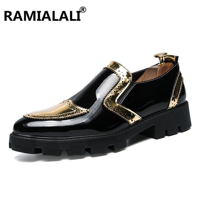 2018 Männer Kleid Schuhe Qualität Männer Formale Schuhe Slip On Männer Geschäfts Oxford Schuhe Marke Männer Hochzeit Spitze Schuhe