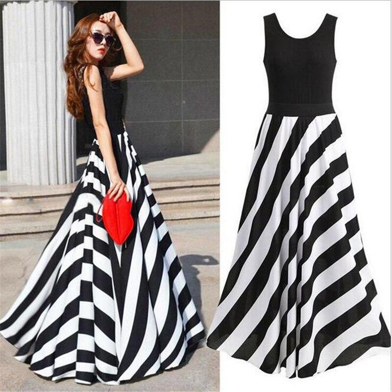 Lange witte maxi jurk