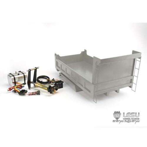 лучшая цена LESU Hydraulic Bucket Cargo Box 6*6 Dumper Truck DIY Model 1/14 TAMIYA RC Car