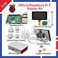 Oficial Raspberry Pi 3 Kit De Exibição com 7 polegada 800x480 Tela sensível ao toque de 5.1 V 2.5A fonte de Alimentação Caso Dissipador De Calor De Cobre Acrílico suporte