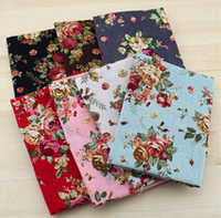 FREE SHIPPING 7pieces 70 50cm Flower Fabric Stash Cotton Fabric Charm Packs Patchwork Fabric Quilting Tilda