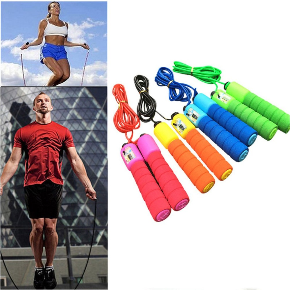 TraveT Jump Jumping Rope with Skin-Friendly Handle and Adjustable Soft Rope for Fitness Workouts Fat Burning Exercises,red