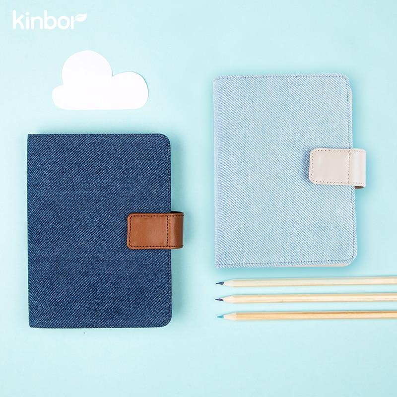 Cute Fresh Style Blue Cloth A5 A6 Traveler's Notebook 2017 Ps