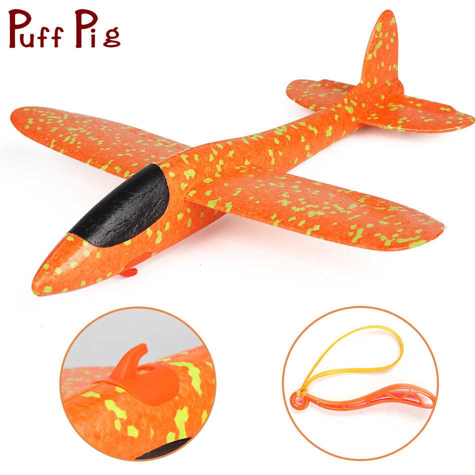 Обновленная версия EPP пены ручной запуск пледы самолет с рогатки Летающий планер модель открытый игрушечные лошадки для детей