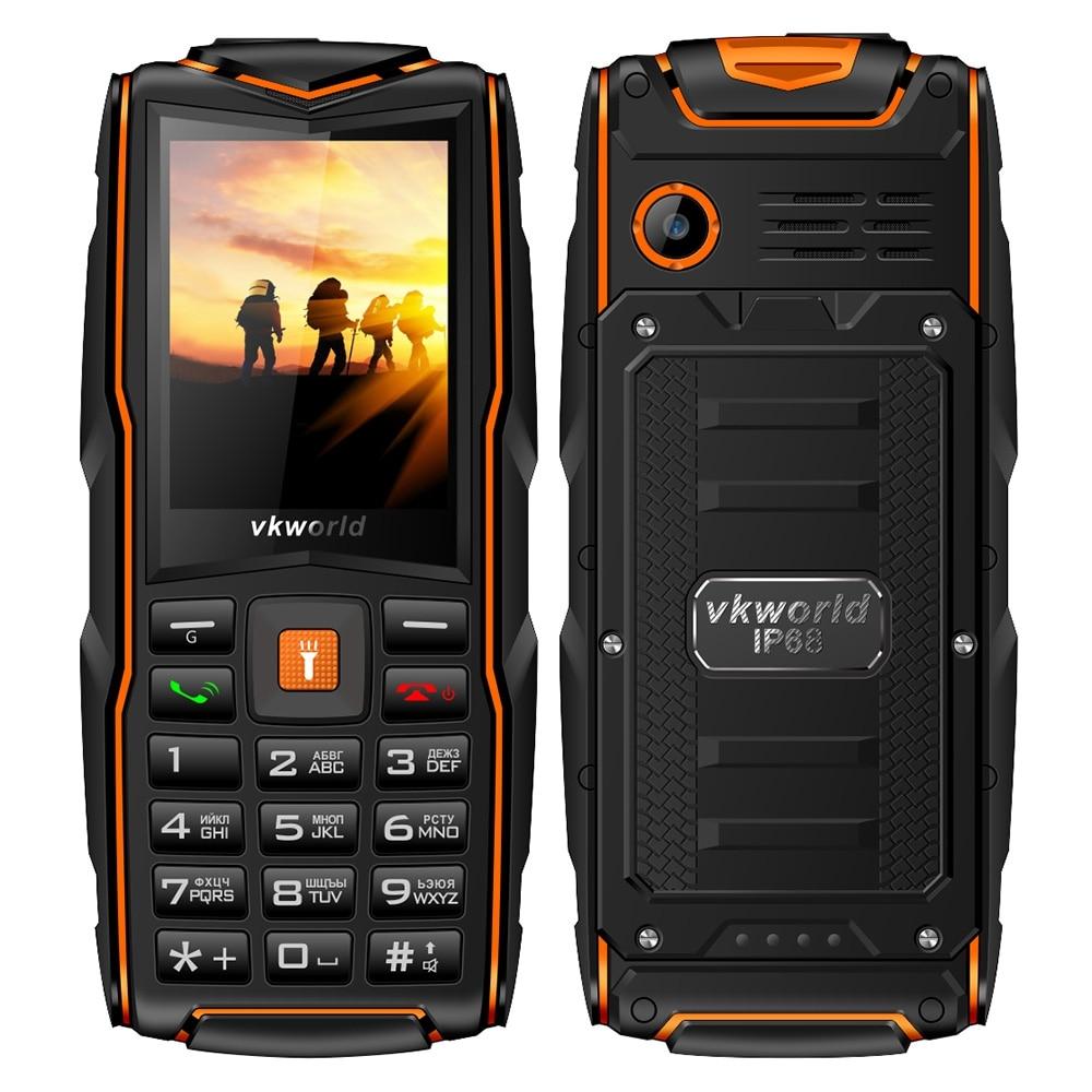Vkworld New Stone V3 Quad Band Unlock Phone Russian Keypad 2 4 inch IP68 Waterproof Power
