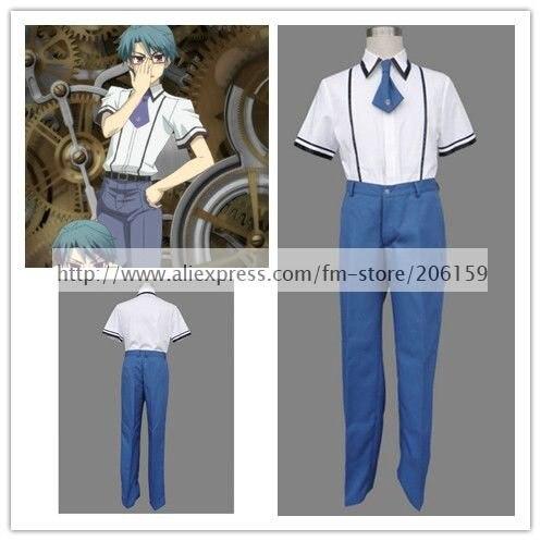 Baka zu Shoukanjuu Schuluniform Jungen Anzug Cosplay Kostüm Männer Weiß  T-shirt Kleidung Anzug Für 940030559c