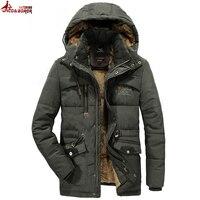 UNCO & BOROR зимняя куртка мужская верхняя одежда дышащая 7XL 8XL ветровка мужская мульти-карман парка пальто флис военный капюшон пальто