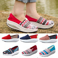 18 Colors Brand New Nice Summer Shoes High Quality Women Canvas Shoes 5CM Platform Wedge Casual Shoes Lady Shoes