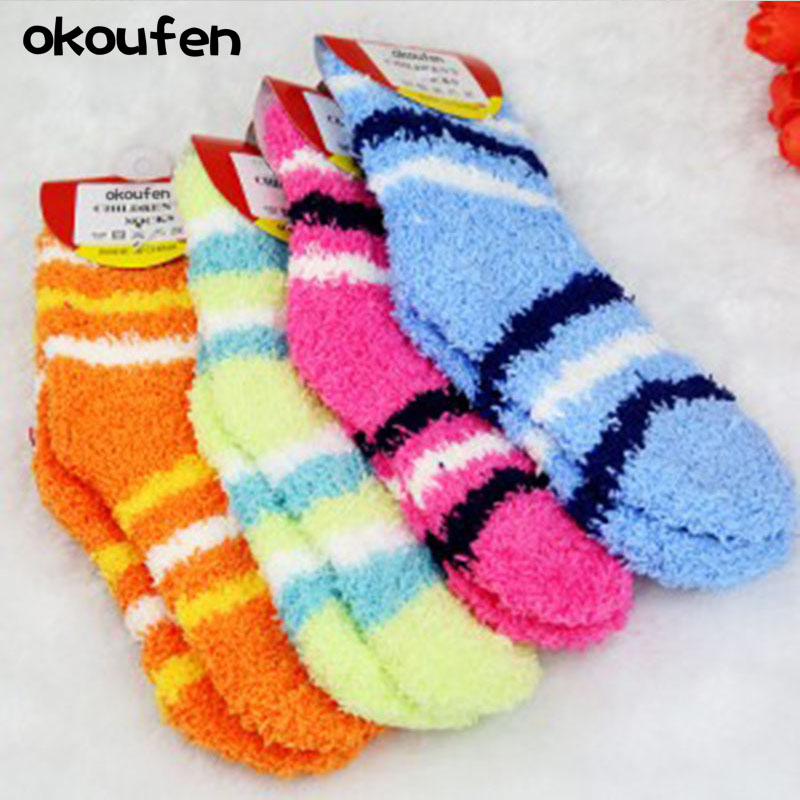 2019 New Winter Warm Baby Boy And Girl Socks Brand Quality Children Kids Towel Thick Socks Retail