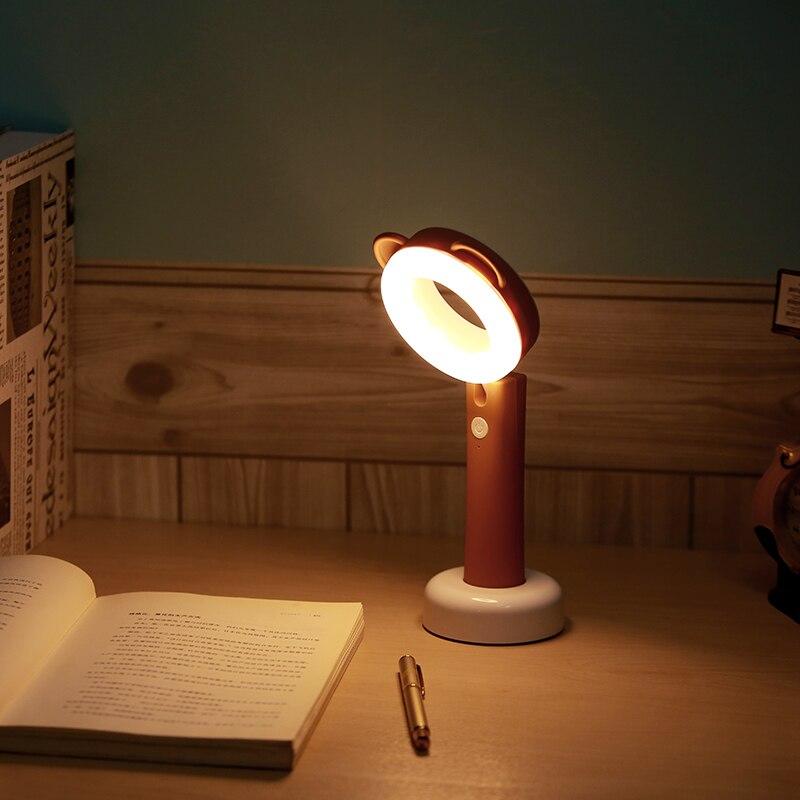 BB SPEAKER Desk Lamp 5V USB Table Light Portable Flexible Desk Lamp Rechargeable Led 3-Level for Kids Study Night light Mini