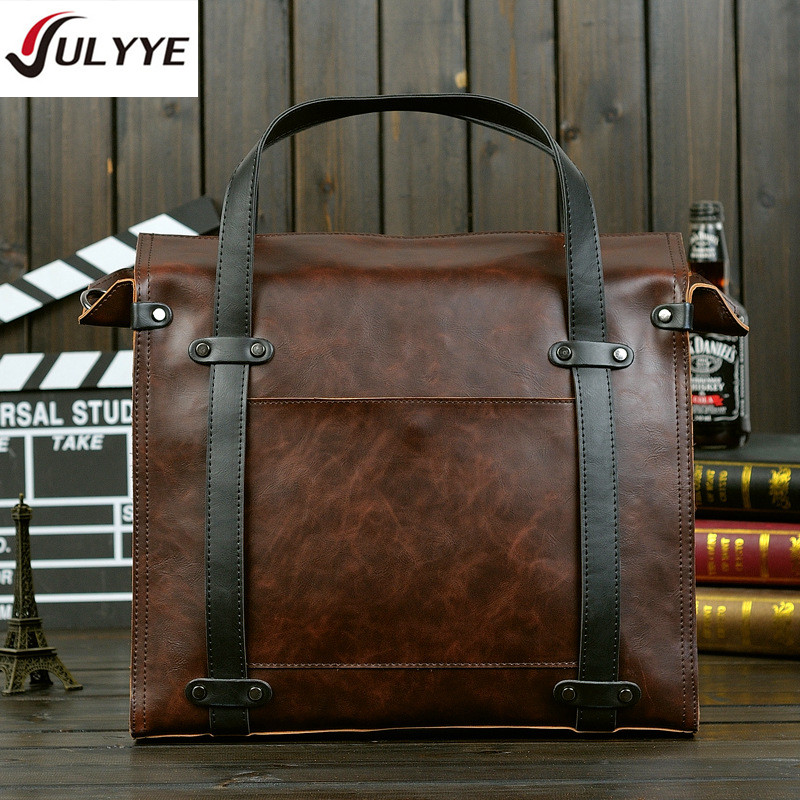 YULYYE New Laptop Business Leather Bag Men Handbag Designer Briefcase Men Messenger Bags High Quality Shoulder Bag Brand Men Bag купить в Москве 2019