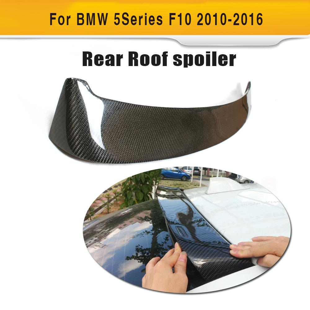 HM Style Rear Roof Spoiler Carbon Fiber for BMW F10 5 Series 520 523 535 2010-2016