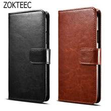 ZOKTEEC For Huawei Y7 Case Luxury Slim series Business flip PU Leather stand cover Material Back case for
