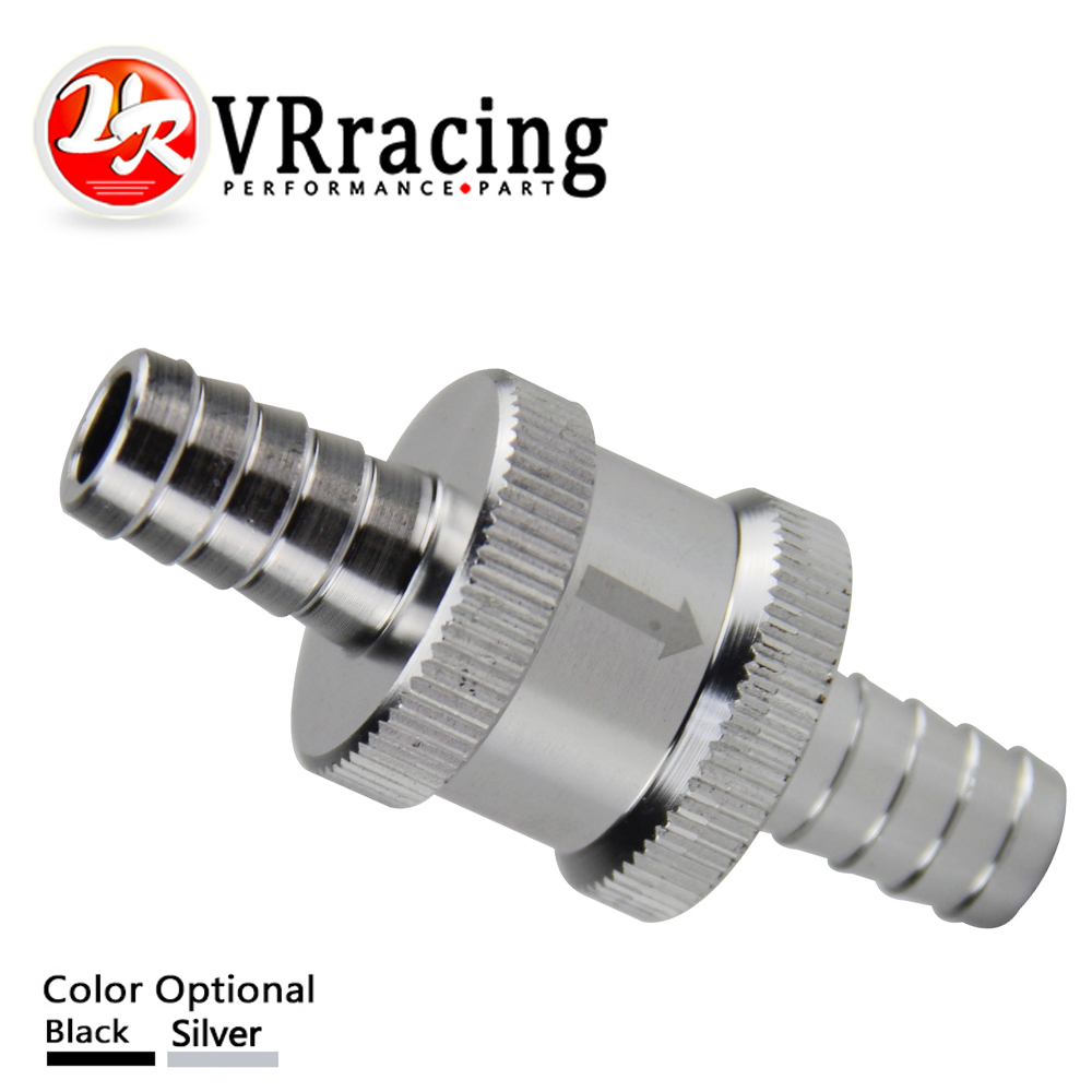 VR RACING - 3/8 10mm Non Return One Way Fuel Check Valve Aluminium Alloy Petrol Diesel VR-FCV10
