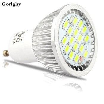 цена на 100pcs/lot 6W GU10 Led Spotlight 16leds SMD5730 LED Bulb Warm Cool White Color Lamp Energy Saving Led Spot Light Bulb AC85-265V