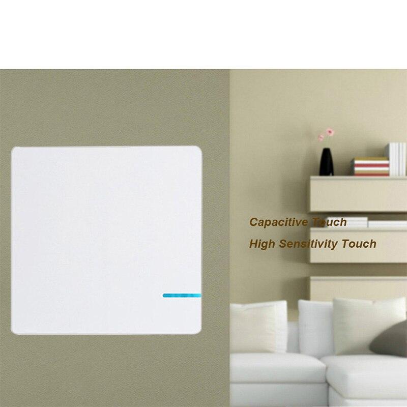 Interrupteur sans fil 220 v Smart Wifi interrupteur mural télécommande interrupteurs étanche un bouton-poussoir tactile