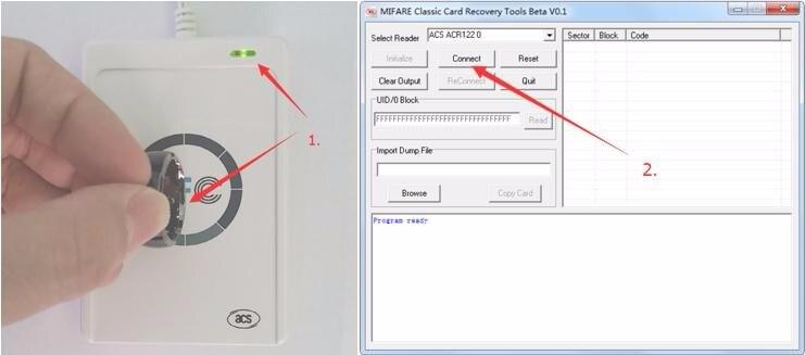 JAKCOM ACR122u NFC Escritor Leitor 13.56 Mhz