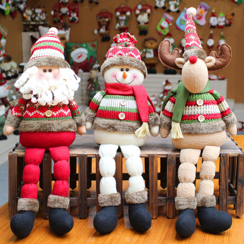 Christmas Gift Santa Claus Snowman Reindeer Doll Navidad