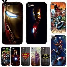 Yinuoda Deadpool iron Man Marvel Avengers New Stylish Phone Case for iPhone X 8 7 6 6S Plus 5 XS XR11 11pro 11promax