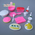 New 10Pcs/lot Doll Accessories For Barbie Dolls / Monster Hight Dolls Kitchen Cake Play House Toys for Girls Baby
