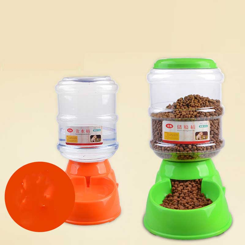 High Quality 3.5L Cats Dogs Automatic Pet Feeder Pet Drinker Cat Feeding Bottle Pets Dog Food Bowl Water Dispenser Pet Supplies image