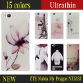 "New Cartoon ZTE Nubia My Prague protective case anime NX513J ultra thin cover 5.2"" back cover Rose Garden or Christmas in Paris"