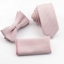light pink ties set white stripe tie in
