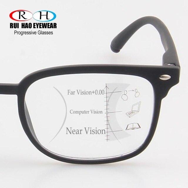 Progresiva lentes multifocales de lectura gafas de presbicia gafas Unisex  gafas de Marco f9f16ea0030f