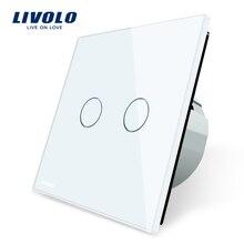 Позиционный гласс переключателя, кристал переключатель, ес, gang livolo стандарт панели белый
