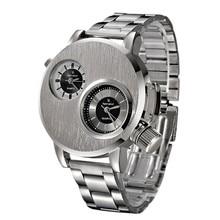 Мода Новых Людей Из Нержавеющей Стали Часы Дата Военная Спорт Водонепроницаемый Часы Кварцевые Аналоговые Наручные Часы оптом