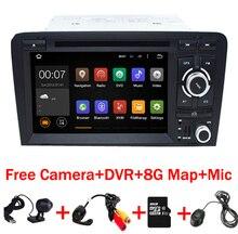 Libre de la Cámara + Mapa Android 7.1 Del Coche DVD GPS Para Audi A3 2002-2011 con Wifi 3G Gps BT de Radio control Del Volante Canbus