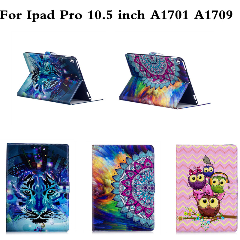 PU Leather Stand case For Apple iPad Pro 10.5 Tablet Cover Protective shell for iPadPro 10.5 inch A1701 A1709 Coloful OWI Panda tablet case for apple ipad 4 3 2 pokemon go pikachu prints multifunction pu leather protective cover stand shell coque para