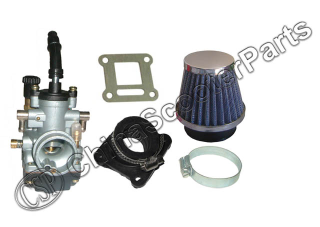 Performance 19MM Dellorto style Carb Intake Air filter Kit 47CC 49CC Mini Moto ATV Quad Bike