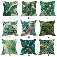 Green forest pillowcase Comfortable fabrics Tropical plant polyester pillowcase sofa throwing pad set home decoration 2019 Hot