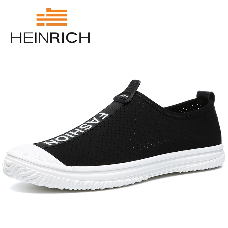 HEINRICH Summer Casual Driving Shoes Genuine Leather Mesh Loafers Men Shoes 2018 New Men Loafers Flats Shoes Men Scarpe blaibilton summer loafers men shoes 100