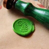 Fern Leaf Wax Seal Stamp Green Leaf Sealing Wax Seal Wedding Wax Stamp