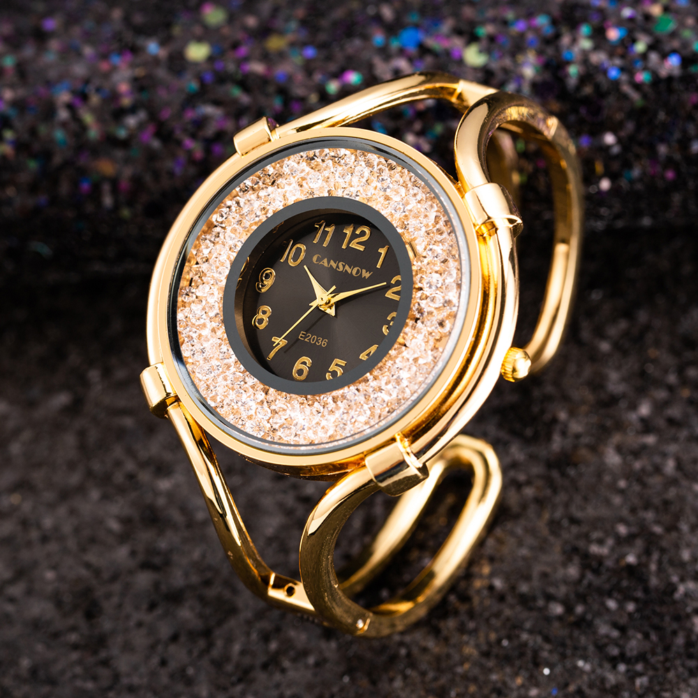 Women's Bracelet Watches Fashion Girls Dress Diamond Saats Ladies Analog Quartz Rose Gold Clock Zegarek Damski
