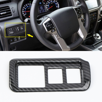 Fit for Toyota 4Runner N280 2010-2019 Car Accessories ABS Black Headlight Button Switch Cover Trim 1pcs Left Hand Only image