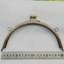 20cm round vintage bronze color carve pattern knurling clasp metal women DIY purse frame bag accessories mouth golden 5pcs/lot