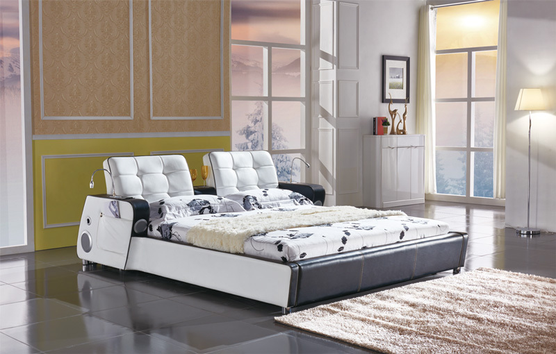 C573 modern comfortable soft bed large king size pu pvc for Mobilia king size bed