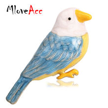 Mloveacc винтажная Милая эмалированная Иволга птица броши булавка