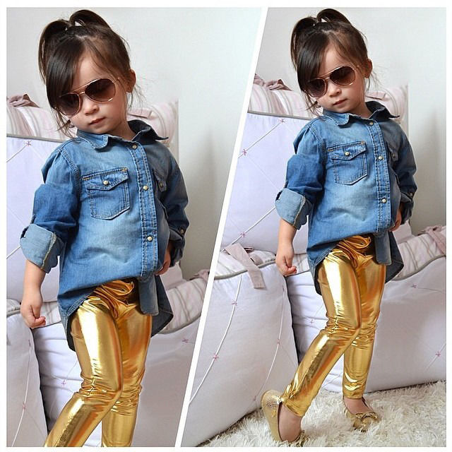 2f61fa61e 2017 Hot Children Baby Kids Girls Shiny Coated Solid Skinny Leggings Pants  Trousers 1~9Y-in Pants from Mother & Kids on Aliexpress.com | Alibaba Group