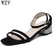 367bab8bf8f588 2018 Summer Women Sandals Open Toe Flip Flops Women s Sandles Thick Heel  Women Shoes Korean Style