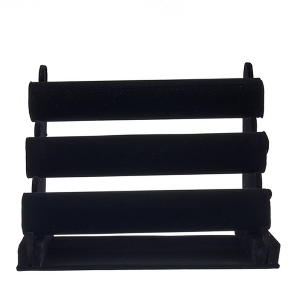 2018 Hot Sale Velvet Three layer Bangle Bracelet Display Stand Jewelry Display Watch holder Display Gift Stand Show case Display