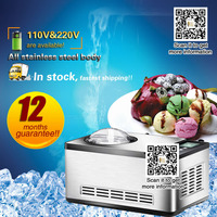 Homemade Ice Cream Freezer home use hard ice cream making machine,easy to operate,fruit ice cream maker with different flavors.